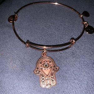 Alex and Ani rose gold Hand of Fatima